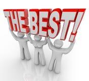 Beste Team Lifting Words Top Winners viert Stock Afbeelding
