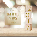 Beste toekomst, klaar I ` m: Citaat op nieuwe het jaarkaart van 2017 Royalty-vrije Stock Foto