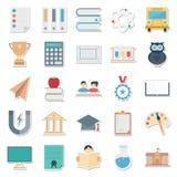 Beste van Editable van onderwijs het Kleur Geïsoleerde Vectorpictogrammen voor Onderwijsprojecten stock illustratie