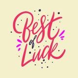 Beste van geluk Hand het getrokken vector van letters voorzien Ge?soleerd op gele achtergrond vector illustratie