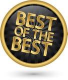 Beste van het beste gouden etiket, vectorillustratie Stock Afbeeldingen