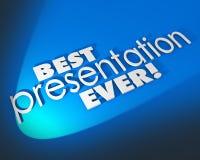 Beste van Presentatie ooit 3d Woorden Blauw Groot Voorstel Als achtergrond Stock Afbeeldingen
