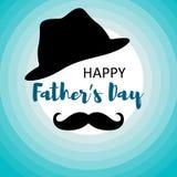 Beste Vaterkarte f?r M?nner mit dem Schnurrbart stock abbildung