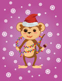 Beste vlakke Kerstmisaap Stock Afbeeldingen