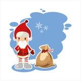 Beste vlakke Kerstmiskerstman Royalty-vrije Stock Foto