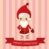 Beste vlakke Kerstmiskerstman Stock Foto's
