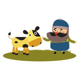 Beste vlakke landbouwer Stock Afbeelding