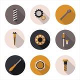 Beste vlakke pictogrammenbevestigingsmiddelen Stock Afbeeldingen