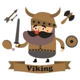 Beste vlakke Viking Royalty-vrije Stock Afbeeldingen