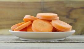 Beste voedsel voor de ogen op witte plaat Stock Foto's