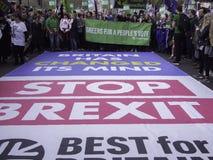 Beste voor de sociale campagnevoerders die van Groot-Brittanni? tegen Brexit protesteren stock afbeeldingen