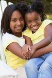 Beste Vrienden Gelukkige meisjes Royalty-vrije Stock Foto's