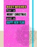 Beste Wünsche während frohen Weihnachten und eines guten Rutsch ins Neue Jahr Stockfotos