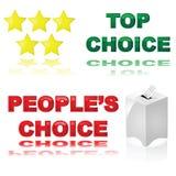Beste Wahl Lizenzfreie Stockfotos
