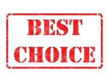 Beste Wahl auf rotem Stempel. Lizenzfreie Stockfotografie