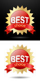 Beste Wahl der Promoaufkleber Stockfotos