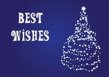 Beste wensen, Kerstmis vectorkaart Stock Foto's