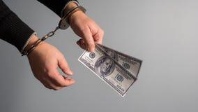 Bestechung in der Gerechtigkeit Lizenzfreie Stockbilder