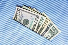 Bestechungsgeld in seiner Tasche Lizenzfreies Stockbild