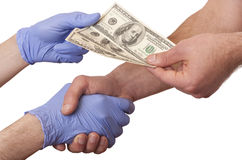 Bestechungsgelder in der Medizin stockfotos