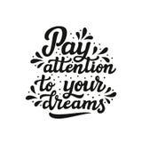 Besteed aandacht aan uw dromen Stock Foto's