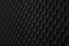 Bestehende konvexe Hexagone des Gitters der schwarzen Farbe als Hintergrund oder Hintergrund Lizenzfreie Stockfotografie