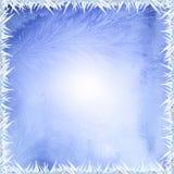 Besteht der Beschaffenheit des Schnees in der Mitte und aus den Rändern der Eismuster Stockfoto
