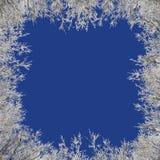 Besteht der Beschaffenheit des Schnees in der Mitte und aus den Rändern der Eismuster Stockfotos