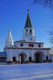 Besteigungs-Kirche in Kolomenskoe, Moskau, Russland. Lizenzfreie Stockbilder