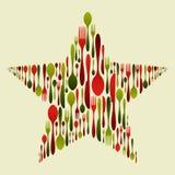 Bestek dat in de ster van Kerstmis wordt geplaatst Royalty-vrije Stock Afbeeldingen