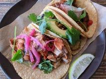 Bestellung von Tacos stockfotos