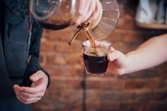Bestellungs-Konzept Barista Prepare Coffee Working stockfotografie