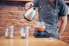 Bestellungs-Konzept Barista Prepare Coffee Working stockfoto