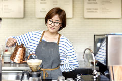 Bestellungs-Konzept Barista Prepare Coffee Working lizenzfreies stockfoto