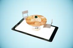 Bestellungslebensmittel-on-line-Konzept Lizenzfreie Stockbilder