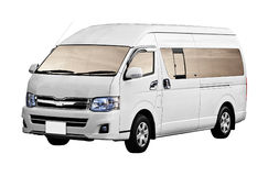 Bestelwagen die op witte achtergrond wordt geïsoleerde Royalty-vrije Stock Foto's