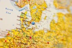 Bestemming: Kopenhagen Stock Foto