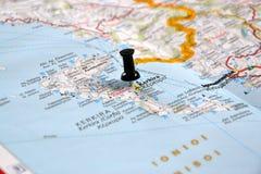 Bestemming: Korfu, Griekenland Stock Foto