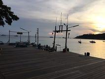 Bestemming van zonsondergang in koh Toa Thailand Stock Fotografie
