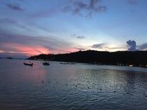 Bestemming van zonsondergang in koh Toa Thailand Royalty-vrije Stock Foto