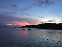 Bestemming van zonsondergang in koh Toa Thailand Stock Afbeelding