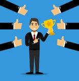 Bester Angestellter des Vektors oder Angestellter des Monats Erfolgreiches Geschäfts-Konzept Auch im corel abgehobenen Betrag EPS vektor abbildung