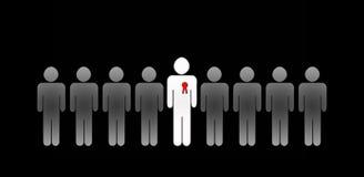 Bester Angestellter mit rotem Abzeichen Lizenzfreie Stockfotografie