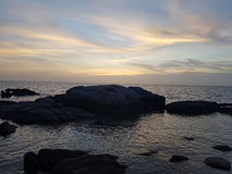 Bester Ansicht kohtao Thailand-Feiertagssonnenaufgang Lizenzfreie Stockfotos