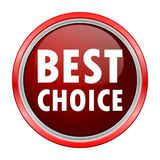 Bester auserlesener runder metallischer roter Knopf Lizenzfreies Stockbild