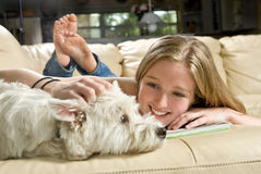 Bester Freund des Hundes Stockbild
