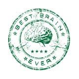Bester Gehirn-Stempel Stockfotografie