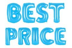 Bester Preis, blaue Farbe Stockbilder