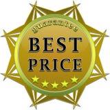 Bester Preisgarantieaufkleber Lizenzfreies Stockfoto