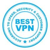 Bester VPN-Stempel stock abbildung